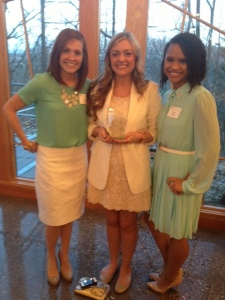 Andrea Filter, Ashley Curd, and Rane Martin accepted the PRoof Award.