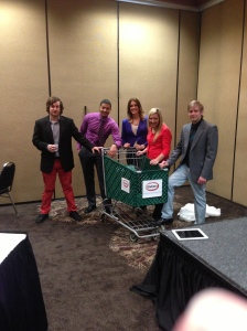 GVSU's NSAC team before presenting a campaign for Glidden.