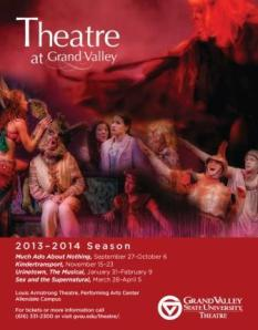 The 2013-14 Theatre Season includes various performances at the Louis Armstrong Theatre