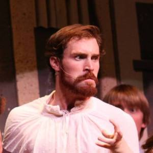 Justin Mackey performs as William Shakespeare in 'Bard to Go.""