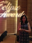 Vandana Pednekar-Magal with her Eclipse Award.